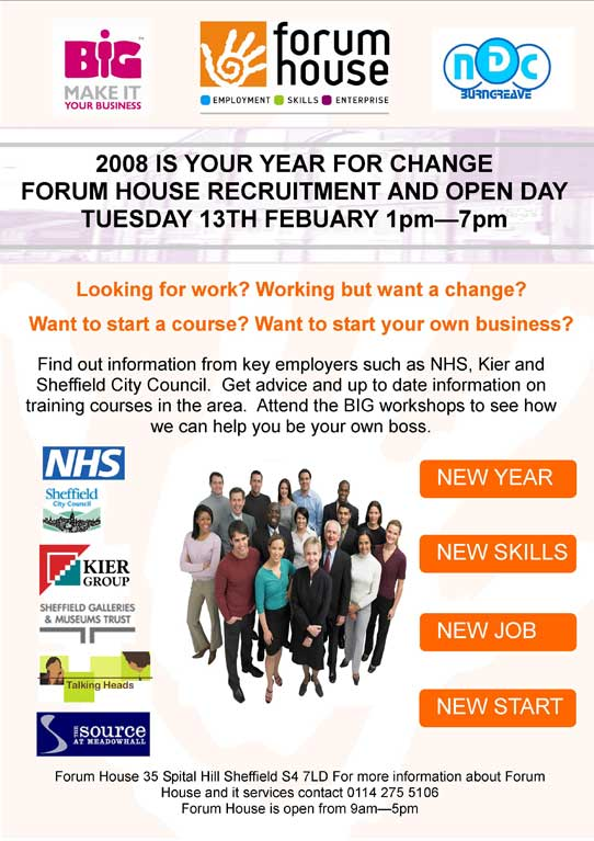 Forum House recruitment and open day